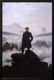 Wanderer Above the Sea of Fog Posters by Caspar Friedrich