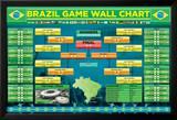 Brazil Football Wallchart Plakater