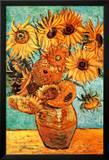 Vincent Van Gogh Vase with Twelve Sunflowers Art Print Poster Kunstdrucke