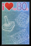 I Love the 80s Greatest Quotes Movie Poster Print Kunstdruck