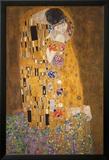 The Kiss (Le Baiser), c.1907 Plakat av Gustav Klimt