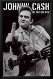 Johnny Cash - portrét v San Quentinu Plakáty