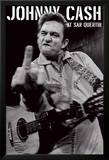 Johnny Cash - San Quentin Porträt Kunstdrucke