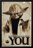Star Wars Yoda May The Force Plakater