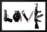 Love (Weapons) Black & White Steez Poster Posters par  Steez