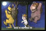 Where The Wild Things Are - Under The Moon Posters by Maurice Sendak