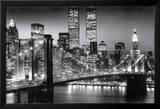 Manhattan la nuit, par Richard Berenholtz Posters par Richard Berenhotlz