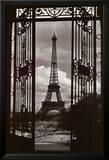Eiffeltornet genom grinden|Eiffel Tower Through Gates Posters av Alexandre-Gustave Eiffel