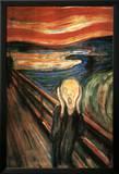 De schreeuw Print van Edvard Munch