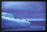Leadership, Save Our Planet (Penguins) Art Poster Print Posters
