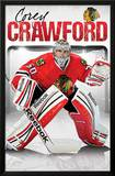 Corey Crawford Chicago Blackhawks NHL Sports Poster Posters