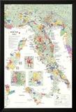 Carte des vins en Italie Affiche