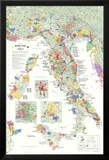 Italy Wine Map Poster Prints