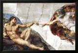 Michelangelo (Creation of Adam) Art Poster Print Posters