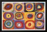 Kvadratisk färgstudie, ca 1913|Farbstudie Quadrate, ca1913 Poster av Wassily Kandinsky