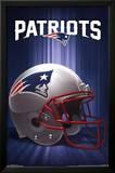 New England Patriots Helmet Logo NFL Sports Poster Plakater