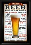 Bier bestellen in verschiedenen Sprachen Kunstdruck