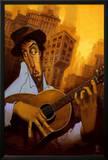 El Guitarrista Posters by Justin Bua