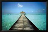 Anlegesteg auf den Malediven Kunstdrucke von Massimo Borchi