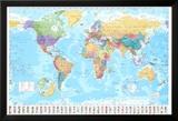 Mapa světa, starobylá (text vangličtině) Obrazy