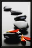 Zen Steine - Rot Poster