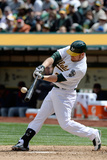 Apr 2, 2014, Cleveland Indians vs Oakland Athletics - Brandon Moss Photographic Print by Thearon W. Henderson