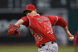 May 30, 2014, Los Angeles Angels of Anaheim vs Oakland Athletics - Garrett Richards Photographic Print by Thearon W. Henderson