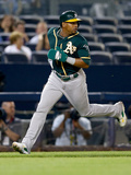 Jun 3, 2014, Oakland Athletics vs New York Yankees - Yoenis Cespedes Photographic Print