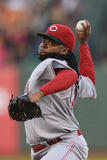 Jun 27, 2014, Cincinnati Reds vs San Francisco Giants - Johnny Cueto Photographic Print by Thearon W. Henderson