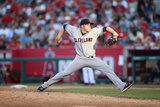Aug 21, 2013, Cleveland Indians vs Los Angeles Angels of Anaheim - Cody Allen Photographic Print by Paul Spinelli