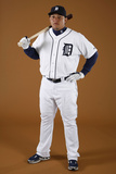 Detroit Tigers Photo Day: Feb 27, 2010 - Miguel Cabrera Photographic Print by Gregory Shamus