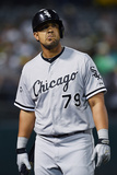 May 12, 2014, Chicago White Sox vs Oakland Athletics - Jose Abreu Photographic Print by Thearon W. Henderson