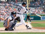 Sep 19, 2013, Seattle Mariners vs Detroit Tigers - Victor Martinez, Mike Zunino Photographic Print by Gregory Shamus