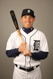 2014 Detroit Tigers Photo Day: Feb 23 - Ian Kinsler Photographic Print by Robbie Rogers
