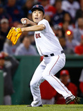 May 6, 2014, Cincinnati Reds vs Boston Red Sox - Koji Uehara Photographic Print by Jared Wickerham