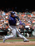 Apr 13, 2014, Colorado Rockies vs San Francisco Giants - Troy Tulowitzki Photographic Print by Thearon W. Henderson