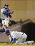 Apr 30, 2014, Los Angeles Dodgers vs Minnesota Twins - Hanley Ramirez, Juan Uribe Photographic Print by Hannah Foslien
