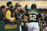 May 13, 2014, Chicago White Sox vs Oakland Athletics - Yoenis Cespedes Photographic Print by Thearon W. Henderson