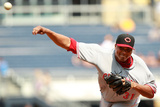 May 28, 2012, Cincinnati Reds vs Pittsburgh Pirates - Alfredo Simon Photographic Print by Jared Wickerham