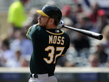 Apr 9, 2014, Oakland Athletics vs Minnesota Twins - Brandon Moss Photographic Print by Hannah Foslien