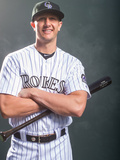 Colorado Rockies Photo Day: Feb 26, 2014 - Troy Tulowitzki Photographic Print by Rob Tringali