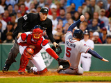 May 29, 2014, Atlanta Braves vs Boston Red Sox - Freddie Freeman, David Ross Photographic Print by Jared Wickerham