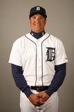 2014 Detroit Tigers Photo Day: Feb 23 - Victor Martinez Photographic Print by Robbie Rogers