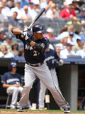 Jun 30, 2011, Milwaukee Brewers vs New York Yankees - Carlos Gomez Photographic Print by Al Bello