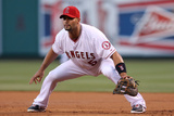 May 2, 2014, Texas Rangers vs Los Angeles Angels of Anaheim - Albert Pujols Photographic Print by Stephen Dunn
