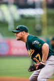 Jul 21, 2013, Oakland Athletics vs Los Angeles Angels of Anaheim - Brandon Moss Photographic Print by Paul Spinelli