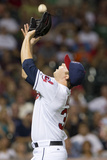 Aug 31, 2012, Texas Rangers vs Cleveland Indians - Cody Allen Photographic Print by Jason Miller