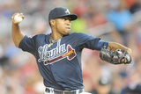 Jun 21, 2014, Atlanta Braves vs Washington Nationals - Julio Teheran Photographic Print by Mitchell Layton