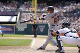 Aug 21, 2011, Cleveland Indians vs Detroit Tigers - Michael Brantley Photographic Print by Leon Halip