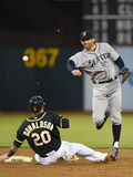 May 6, 2014, Seattle Mariners vs Oakland Athletics - Josh Donaldson, Brad Miller Photographic Print by Thearon W. Henderson